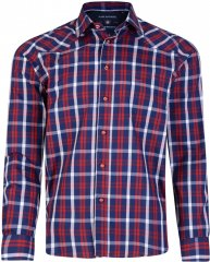 Kam Jeans 6143 Long Sleeve Shirt Red