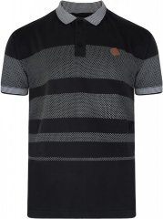 Kam Jeans 5222 Stripe and Dot Polo Black