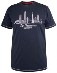D555 Randwick San Francisco Printed T-Shirt Navy