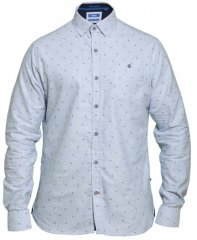 D555 Addington Printed Oxford Shirt Blue