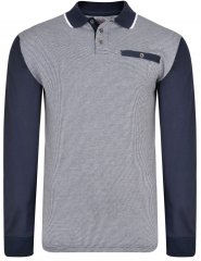 Kam Jeans 5425 Long Sleeve Polo Navy