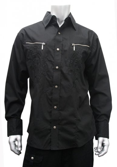 Knockout Tribal Shirt Black - Skjorter - Skjorter til store mænd 2XL- 8XL
