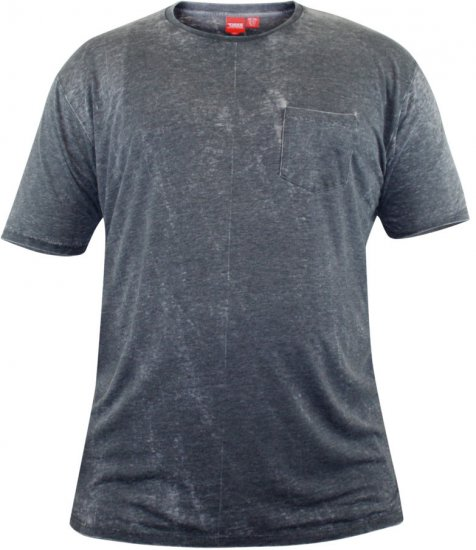 D555 Mavi T-shirt Grey with Pocket - T-shirts - T-shirts i store størrelser - 2XL-8XL
