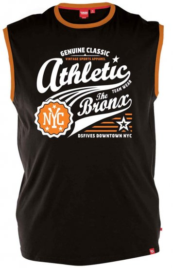 D555 JOVAN Athletic Sleeveless T-shirt Black - T-shirts - T-shirts i store størrelser - 2XL-8XL