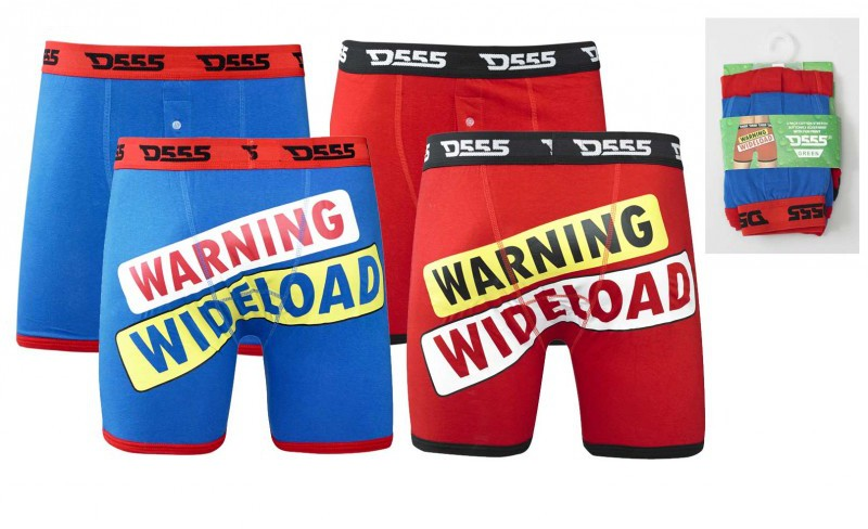 D555 Novelty Boxershorts 2 pack