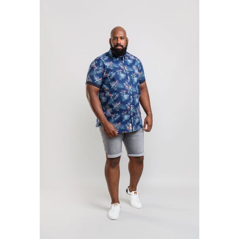 D555 Reuben Hawaii Shirt Navy